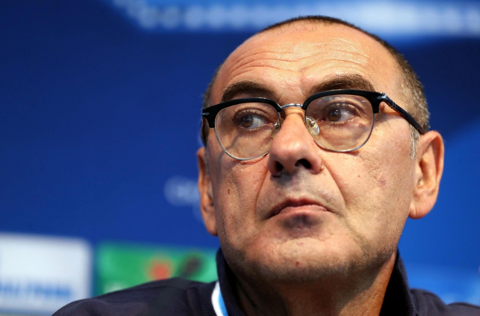Maurizio Sarri had a colourful choice of words to give his players confidence