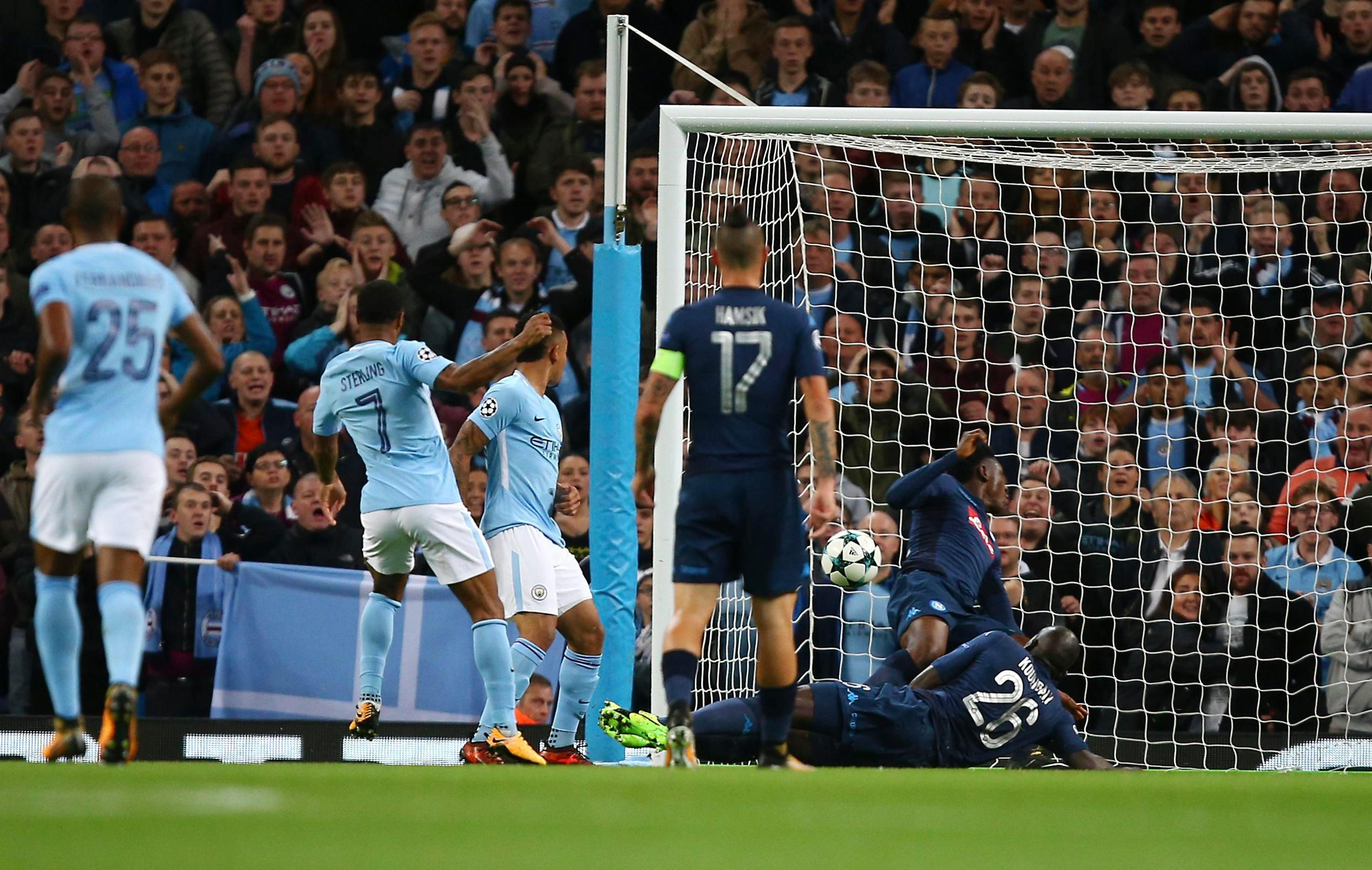 Sterling hammers City ahead