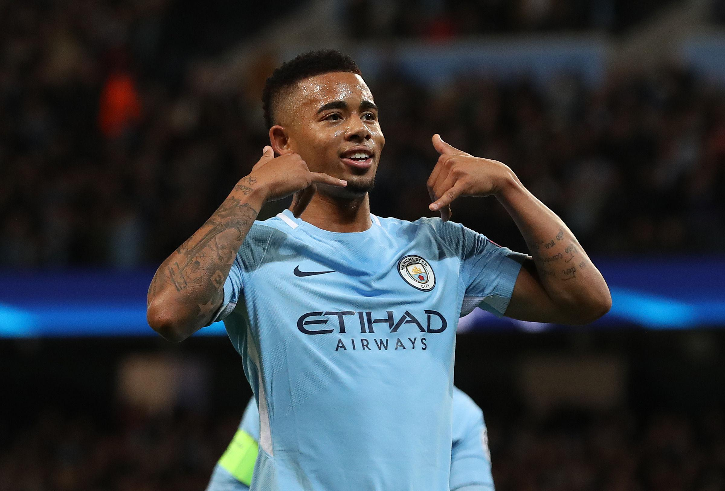 Gabriel Jesus scored when City beat Napoli at the Etihad