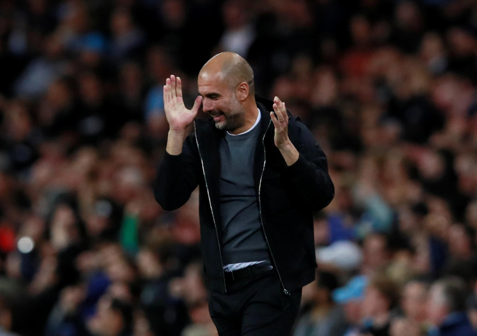 Pep Guardiola has led Man City to an astonishing start to the season