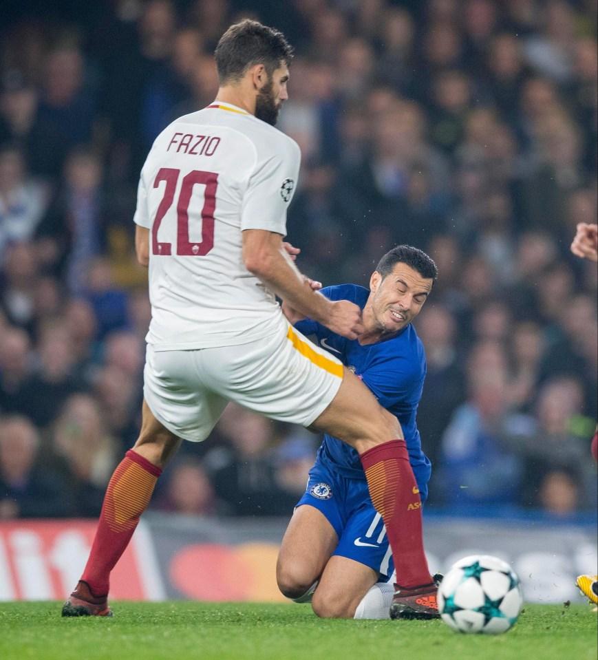 He assisted Edin Dzeko's wondergoal against Chelsea