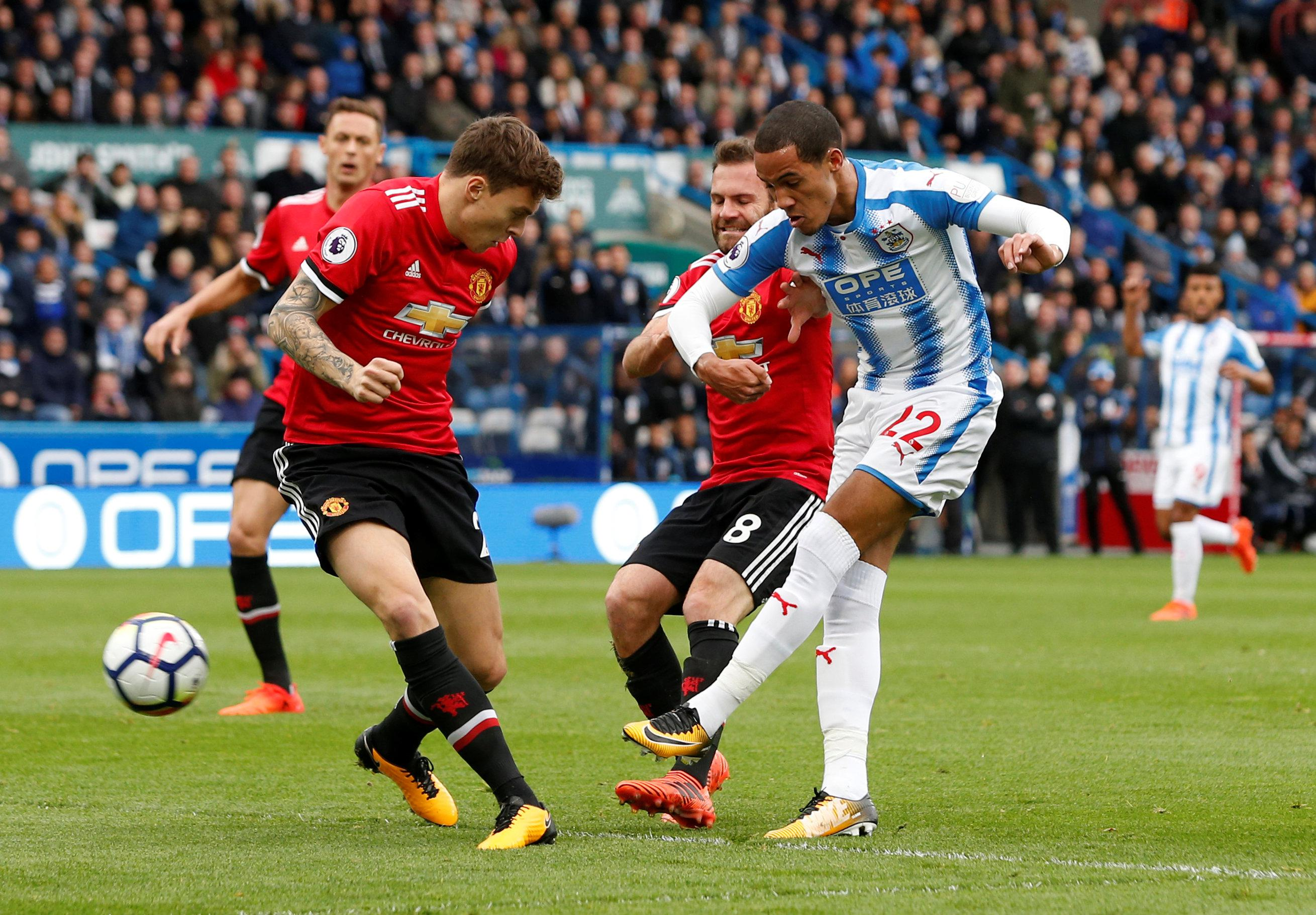 Lindelof was unable to stop Tom Ince in the build up to Huddersfield's first goal