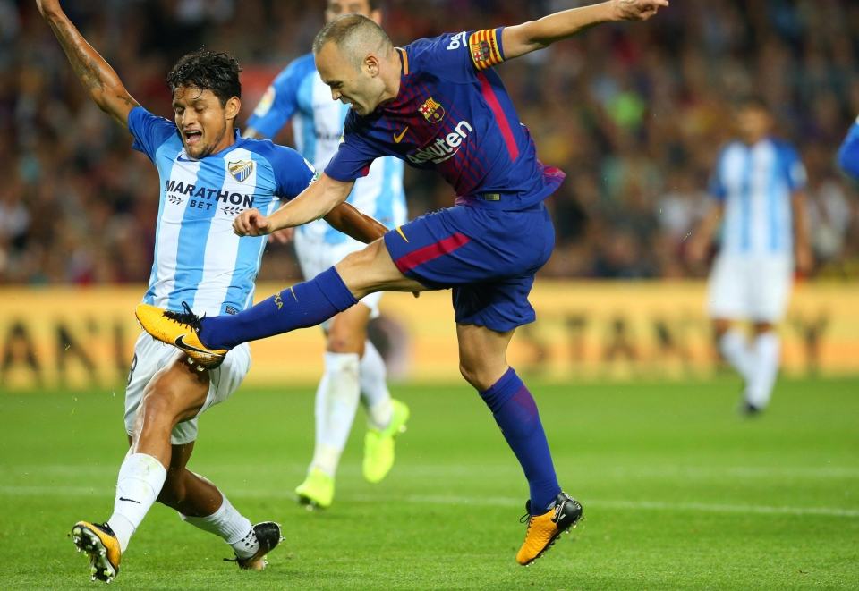 Andres Iniesta scored the second after the break to secure victory
