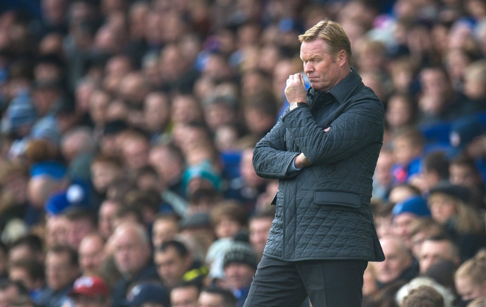 It was another bad day at the office for Koeman