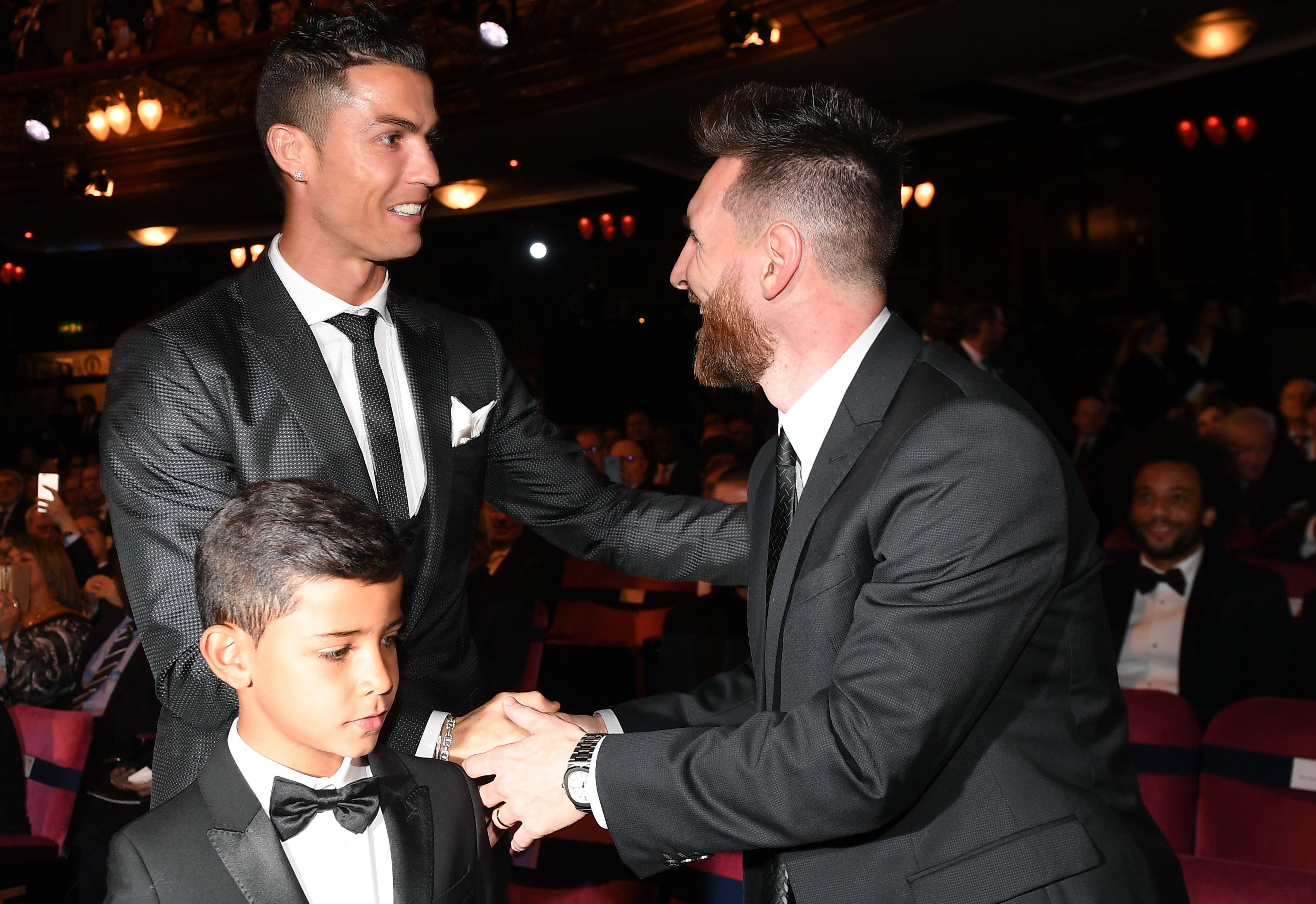 Cristiano Ronaldo made sure to mention rival Lionel Messi in his acceptance speech
