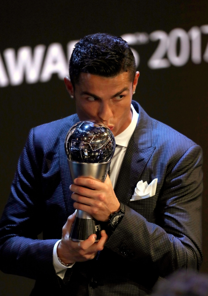 Fifa Best Player of the Year Cristiano Ronaldo was chosen in attack in the world XI