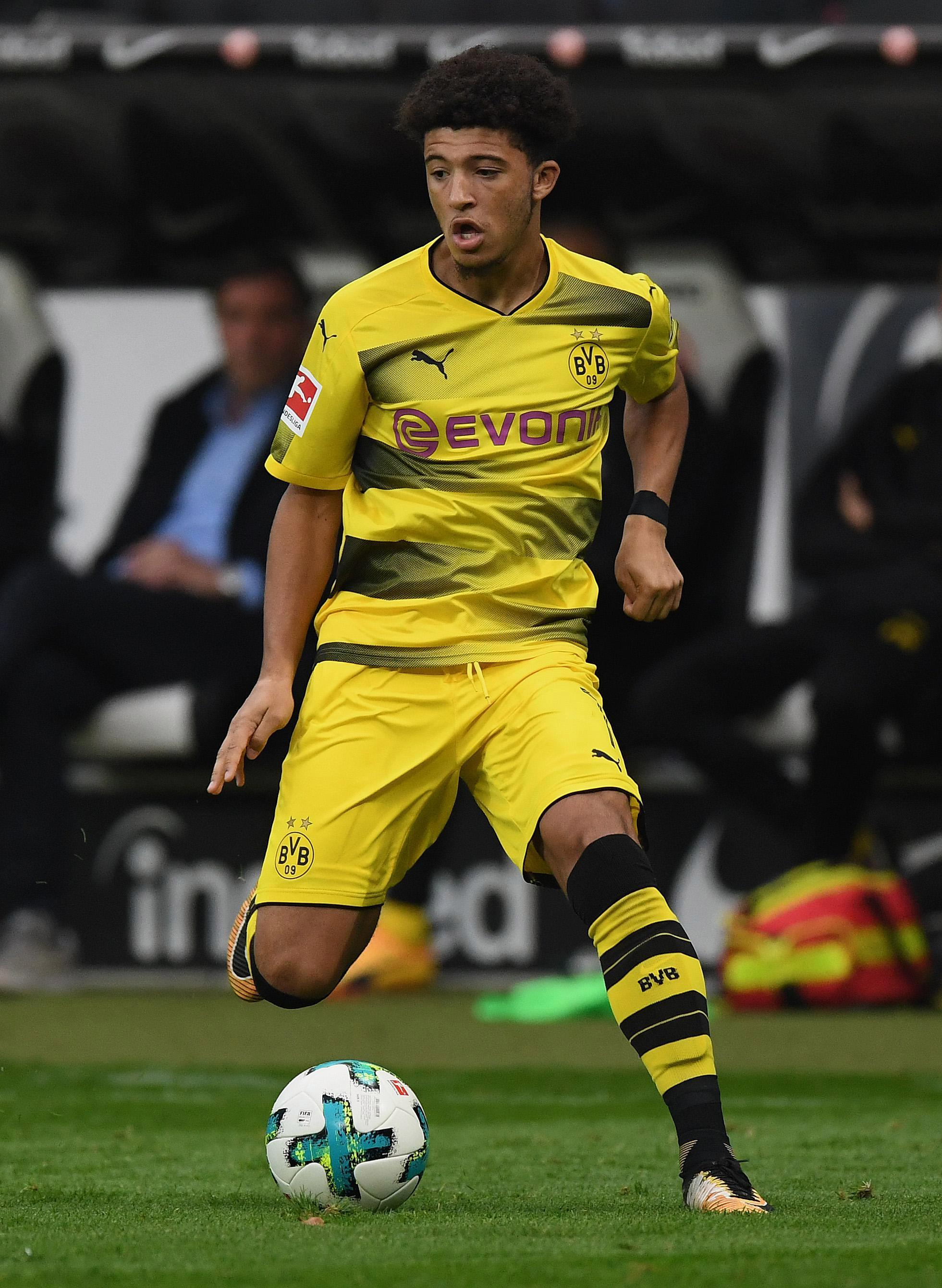 Jadon Sancho has made one senior appearance for Dortmund, off the bench