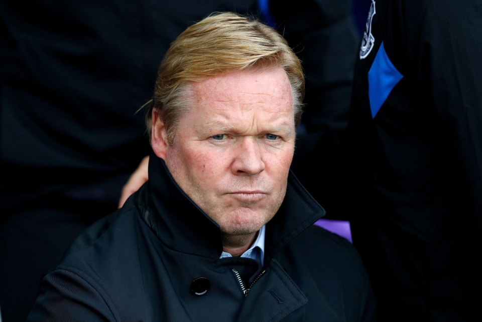 The Toffees are without a manager after sacking Ronald Koeman