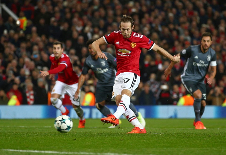 Blind took United's second penalty after some initial confusion