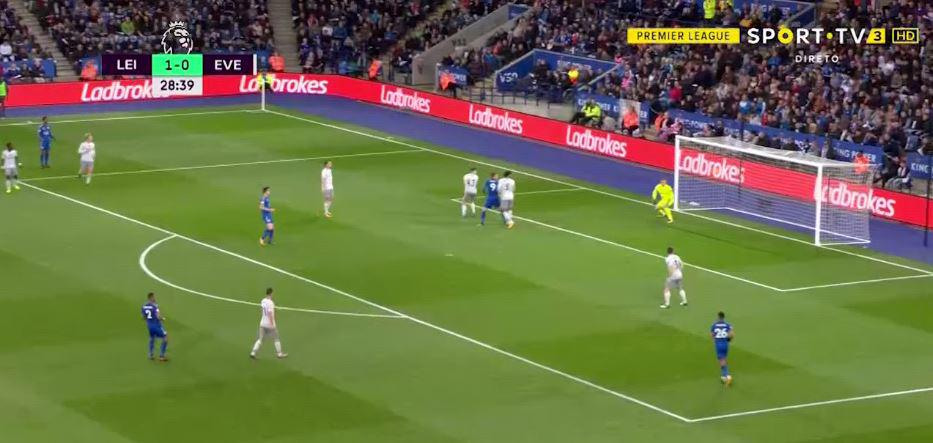 Kenny and Pickford could only watch the ball cross the line
