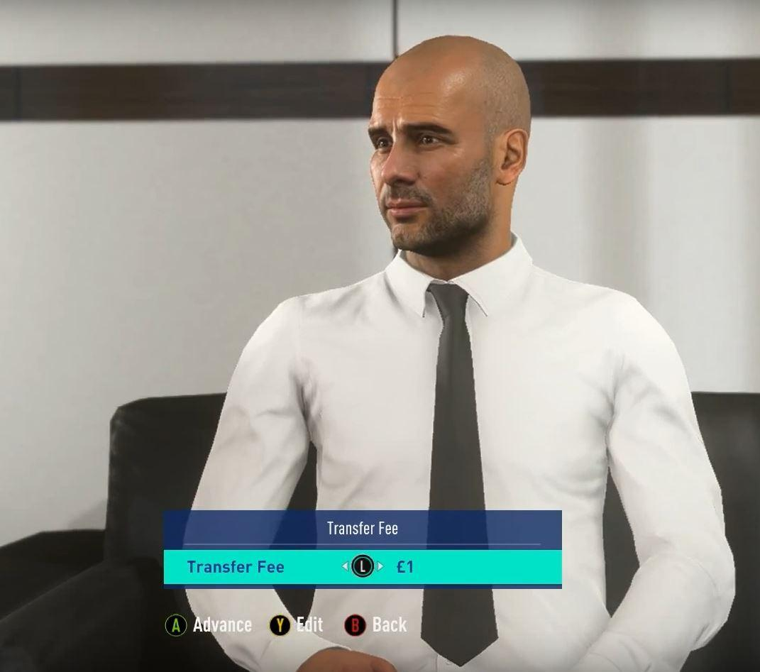Gone are the annoying avatars – replaced with real managers such as Pep