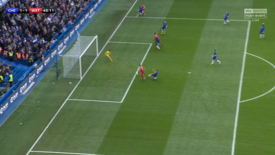 It was practically an open goal…