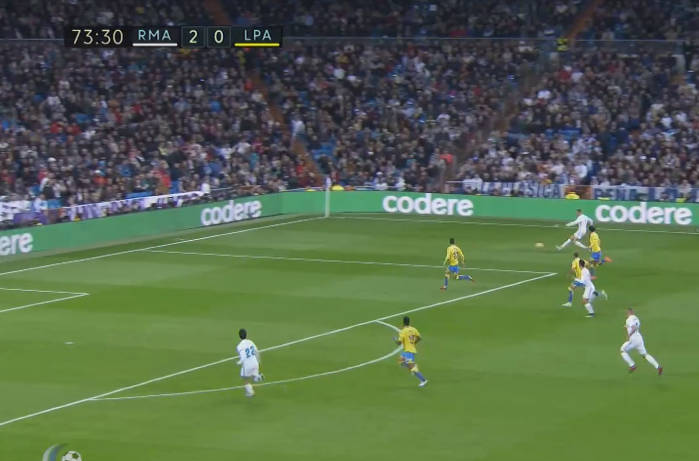 Ronaldo bursts down the right wing