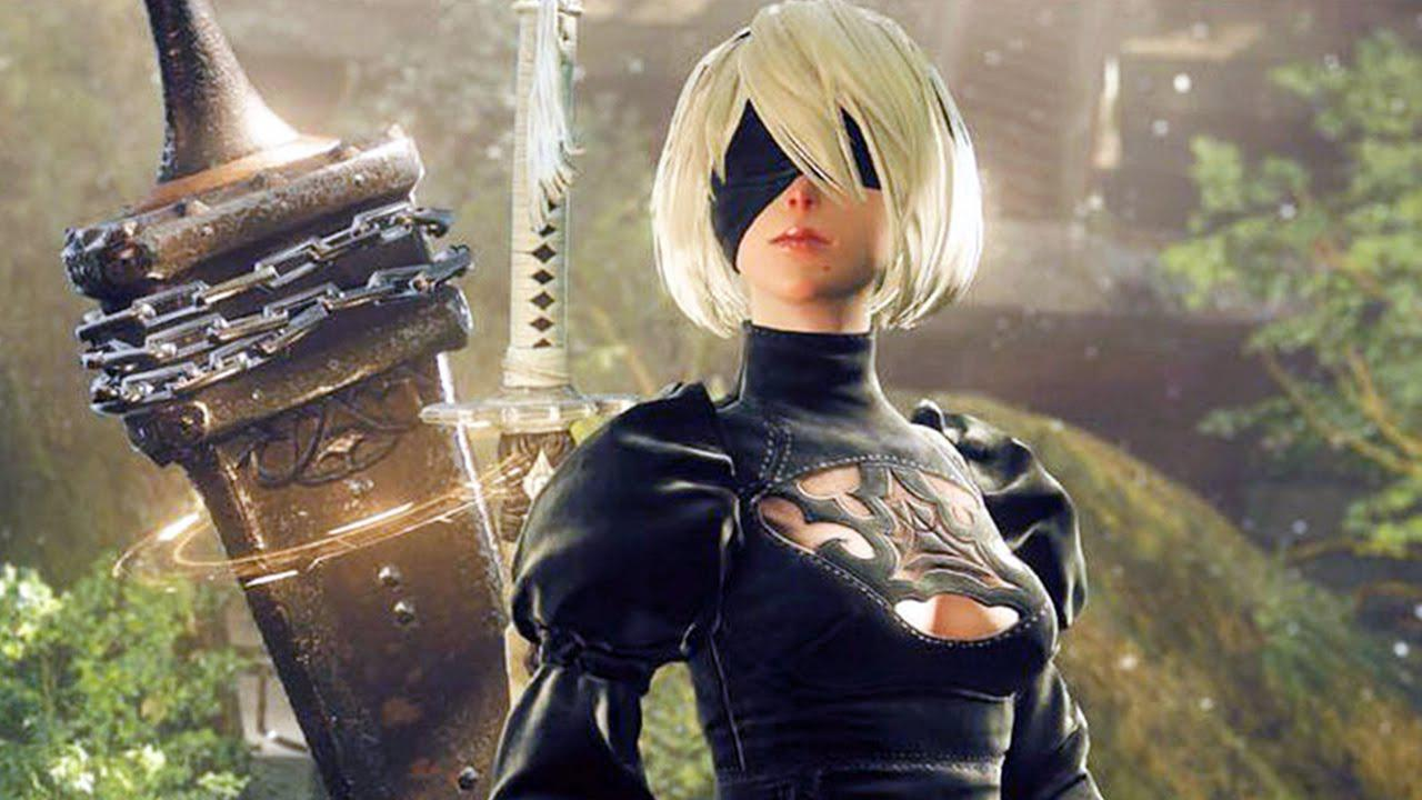 You play 2B an android who's especially handy with a sword