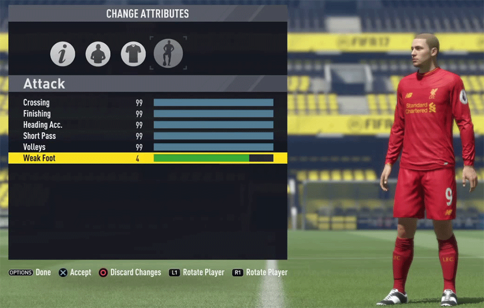 Create Your Own? Here's a very realistic 99 rated player