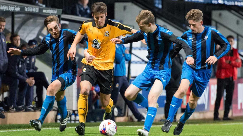 Matt Foy in action for Cambridge United