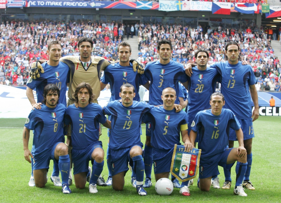 They were also part of the Italy side that won the World Cup in 2006