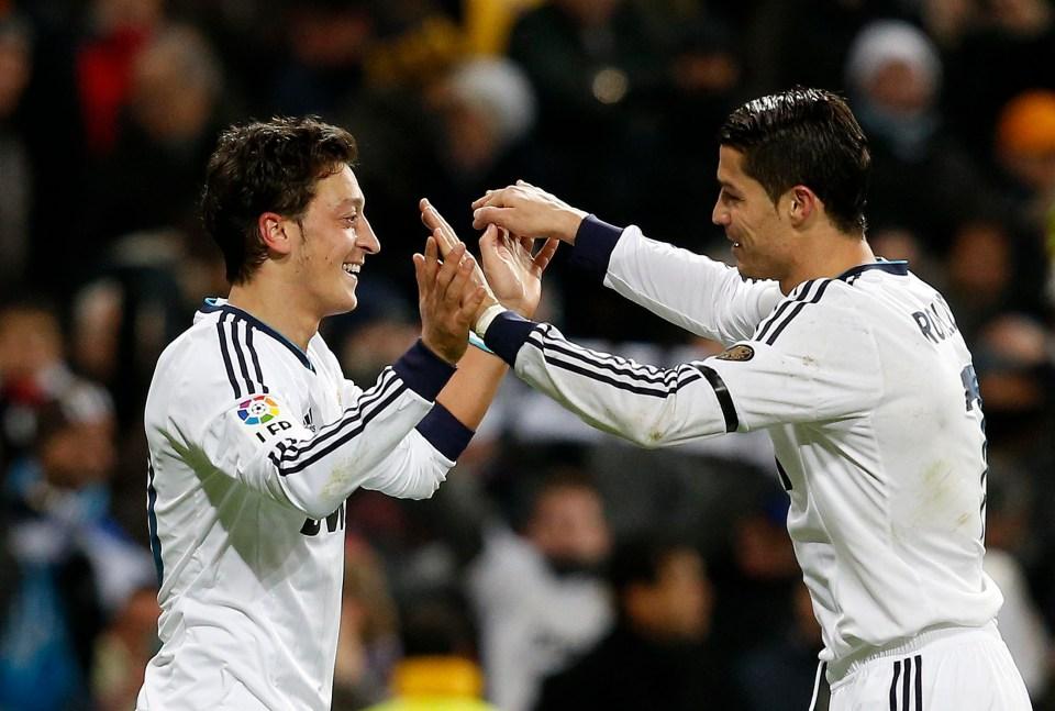 Cristiano Ronaldo loved having Ozil as a team-mate