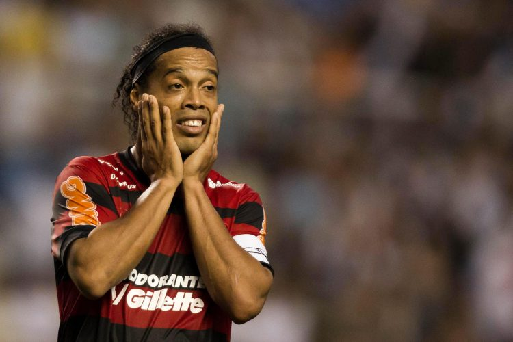 A rare picture of Ronaldinho not smiling
