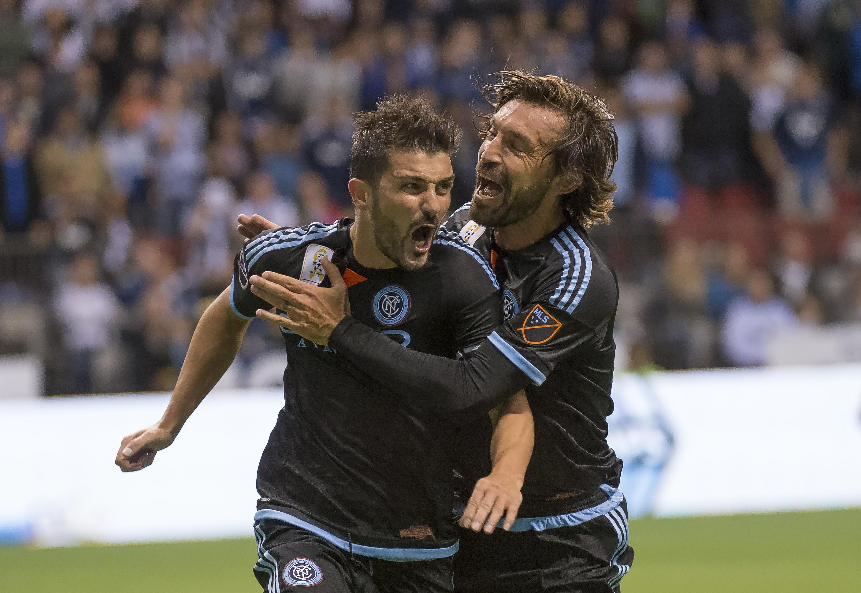 Pirlo played alongside David Villa and Frank Lampard at NYCFC