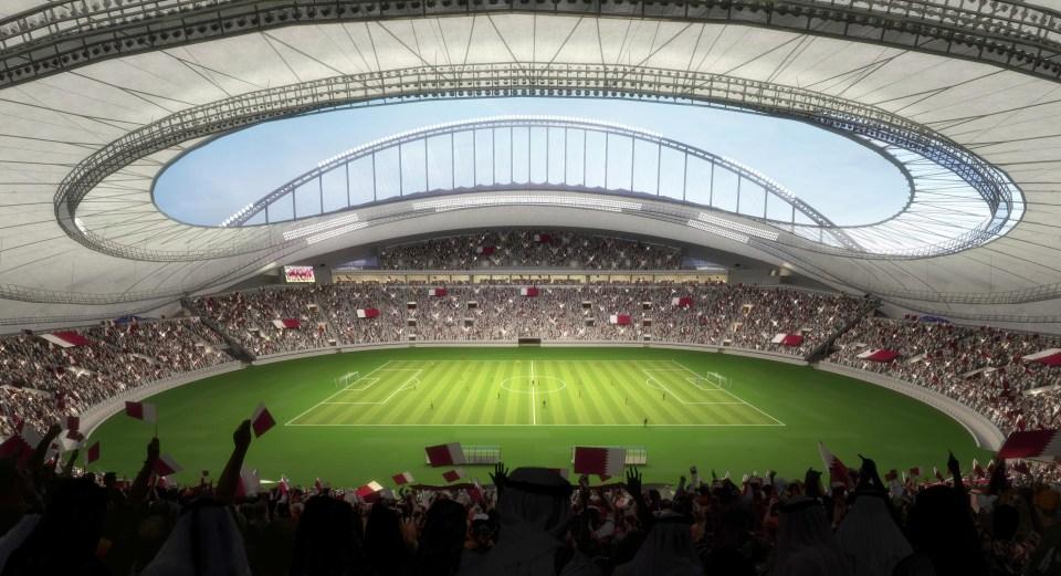 Artists impression of the Khalifa International Stadium in Qatar