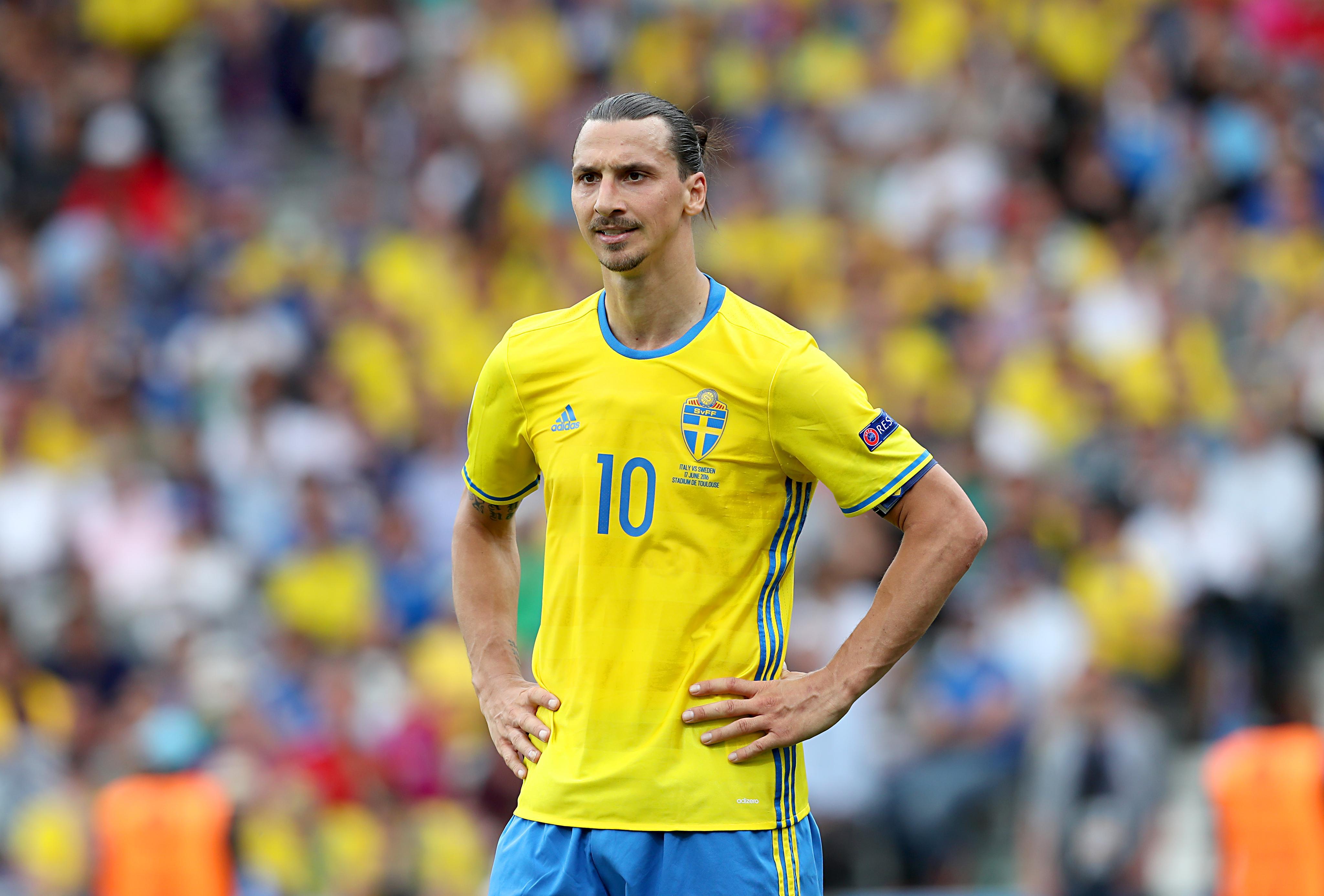 Zlatan failed to score at Euro 2016