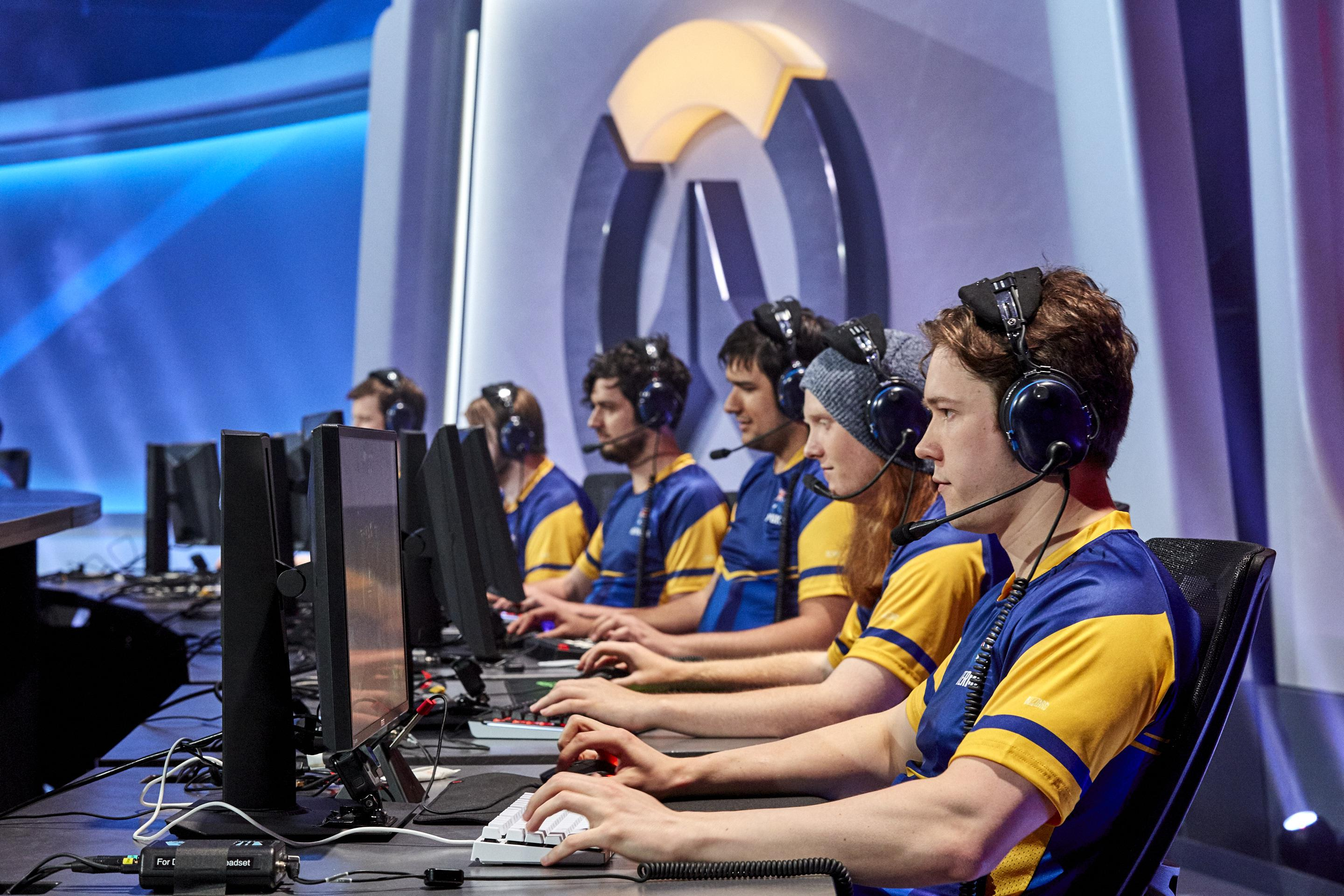 Overwatch eSports stars in action at the World Cup in Canada last month