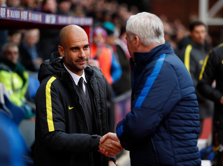 A meeting of two footballing legends