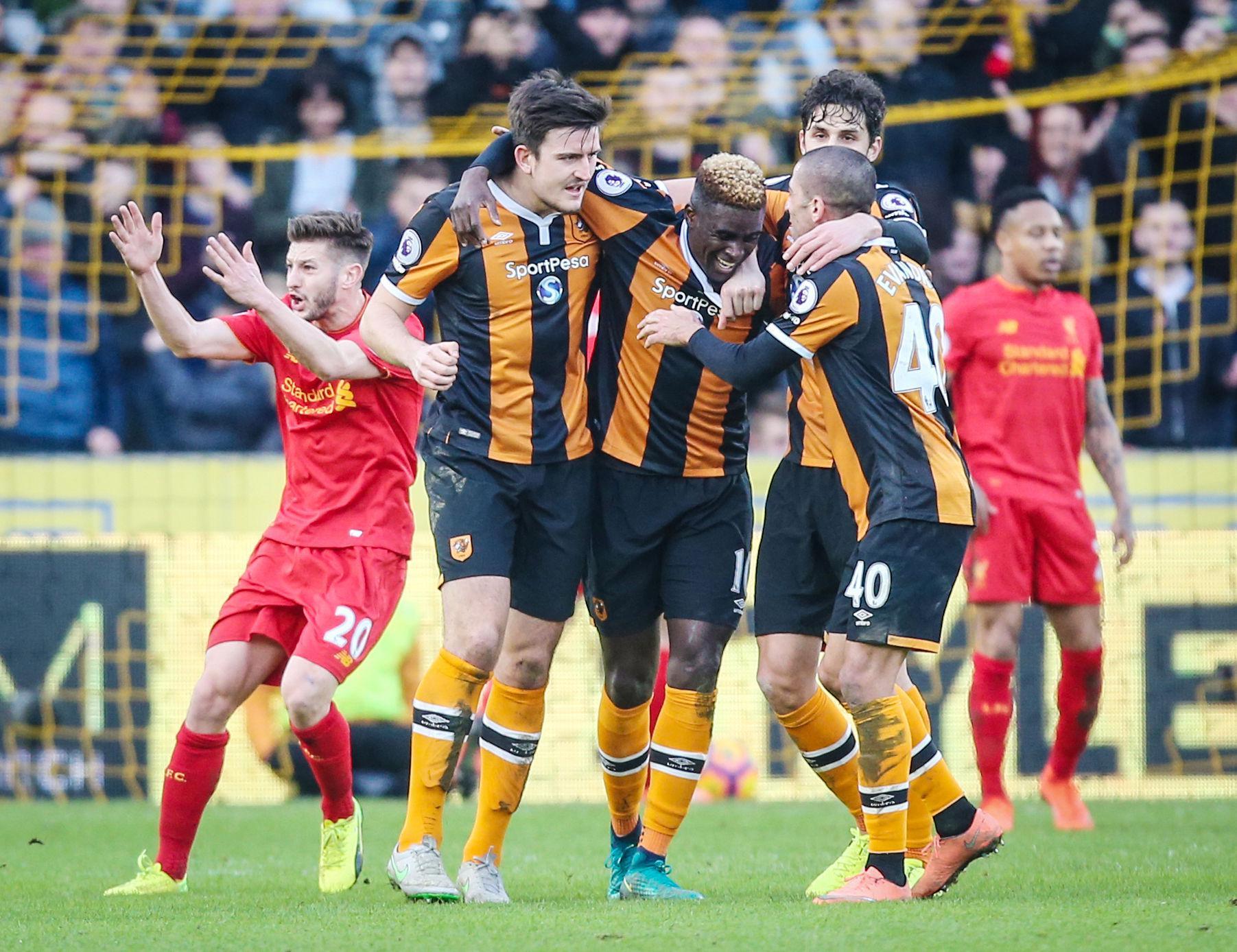 Hull beat Liverpool 2-0 last February