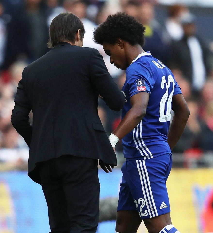 Antonio Conte has used Willian sparingly during his time at Stamford Bridge