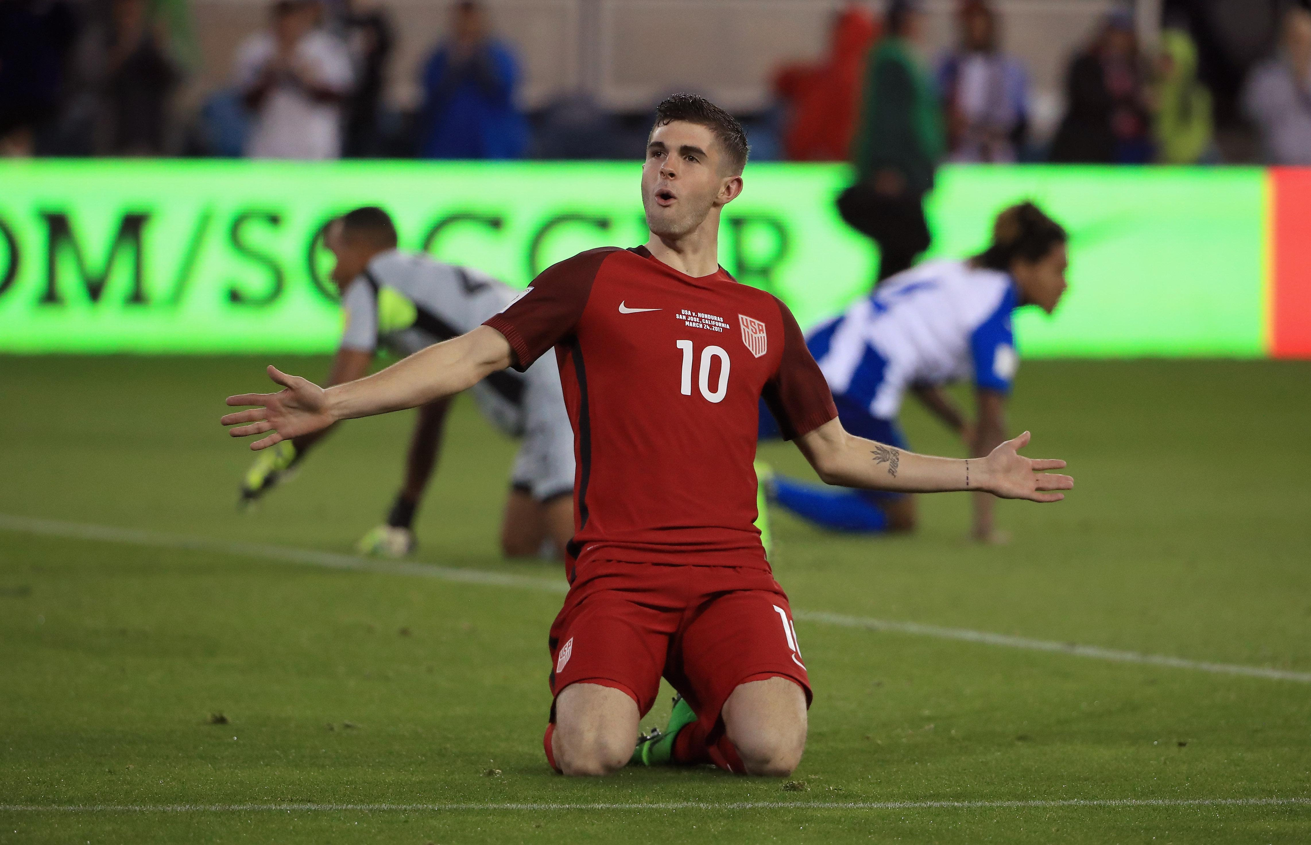Pulisic scored against Trinidad and Tobago and Panama during qualifying