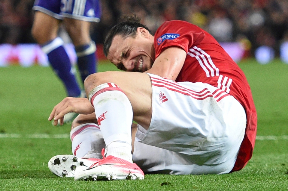 The striker suffered a nasty knee injury earlier this year