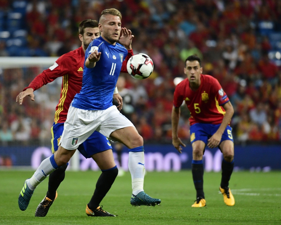 Italy were humbled by group rivals Spain