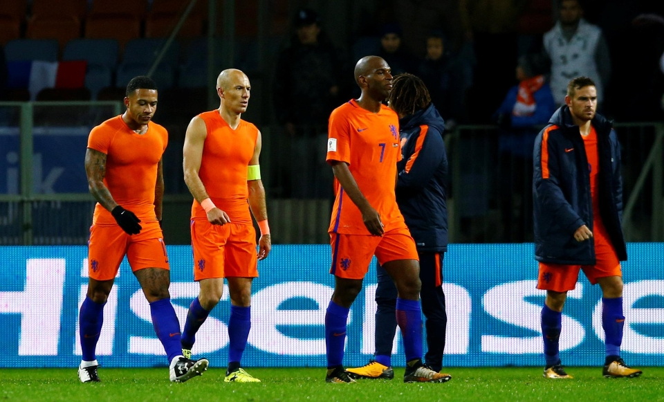 The Netherlands failed to qualify for their second consecutive major tournament