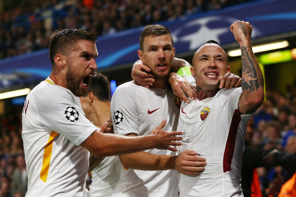 Nainggolan and Roma host Chelsea in the Champions League on Tuesday night