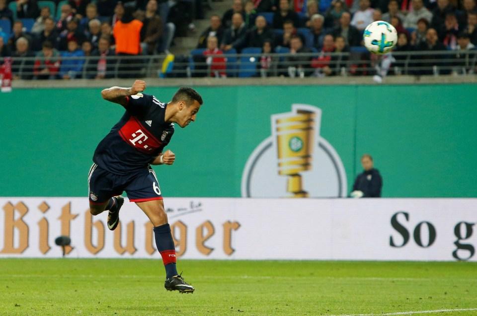 Thiago has won four consecutive German top-flight titles since his move