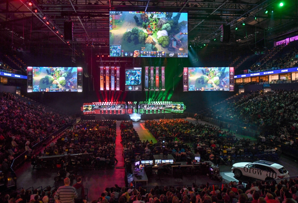A general view over the semi-final between team 'Liquid' and 'Secret' during the ESL One event in Hamburg, Germany