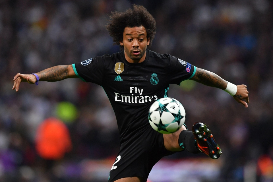 Real Madrid's Marcelo regularly contacts the youngster