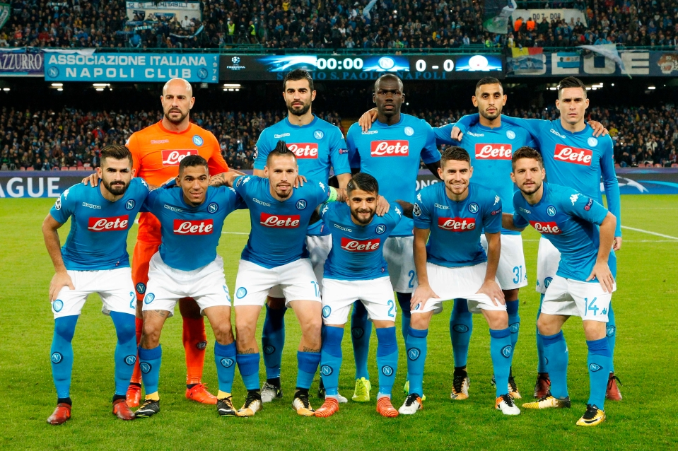 Serie A leaders Napoli