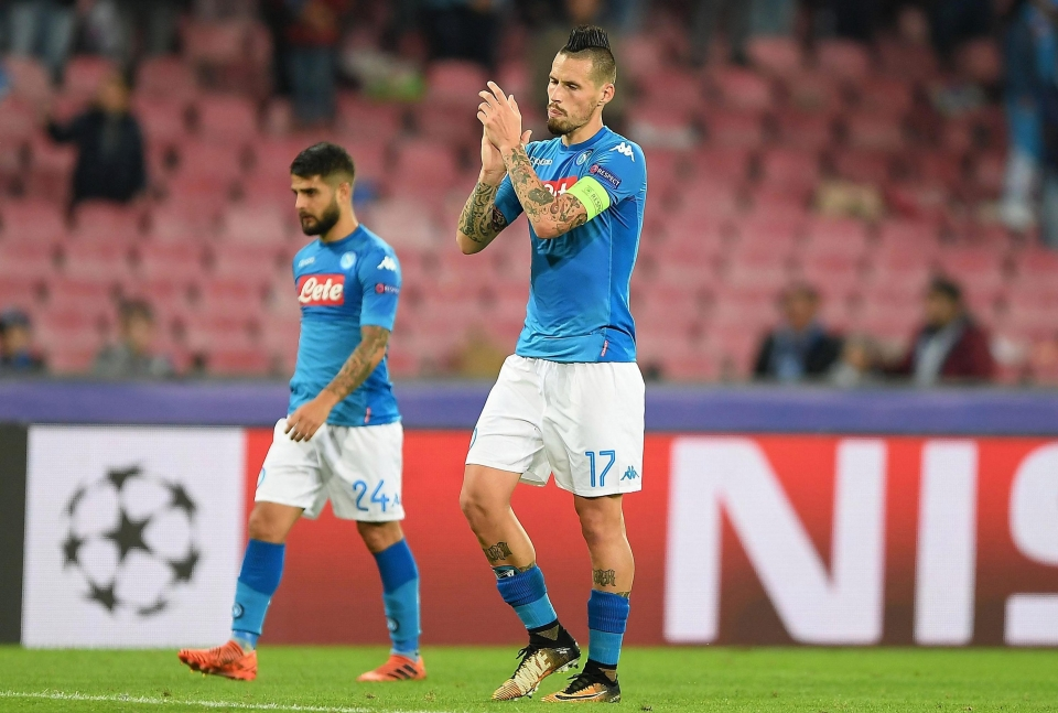 Will Marek Hamsik be saying goodbye to the Champions League this season?