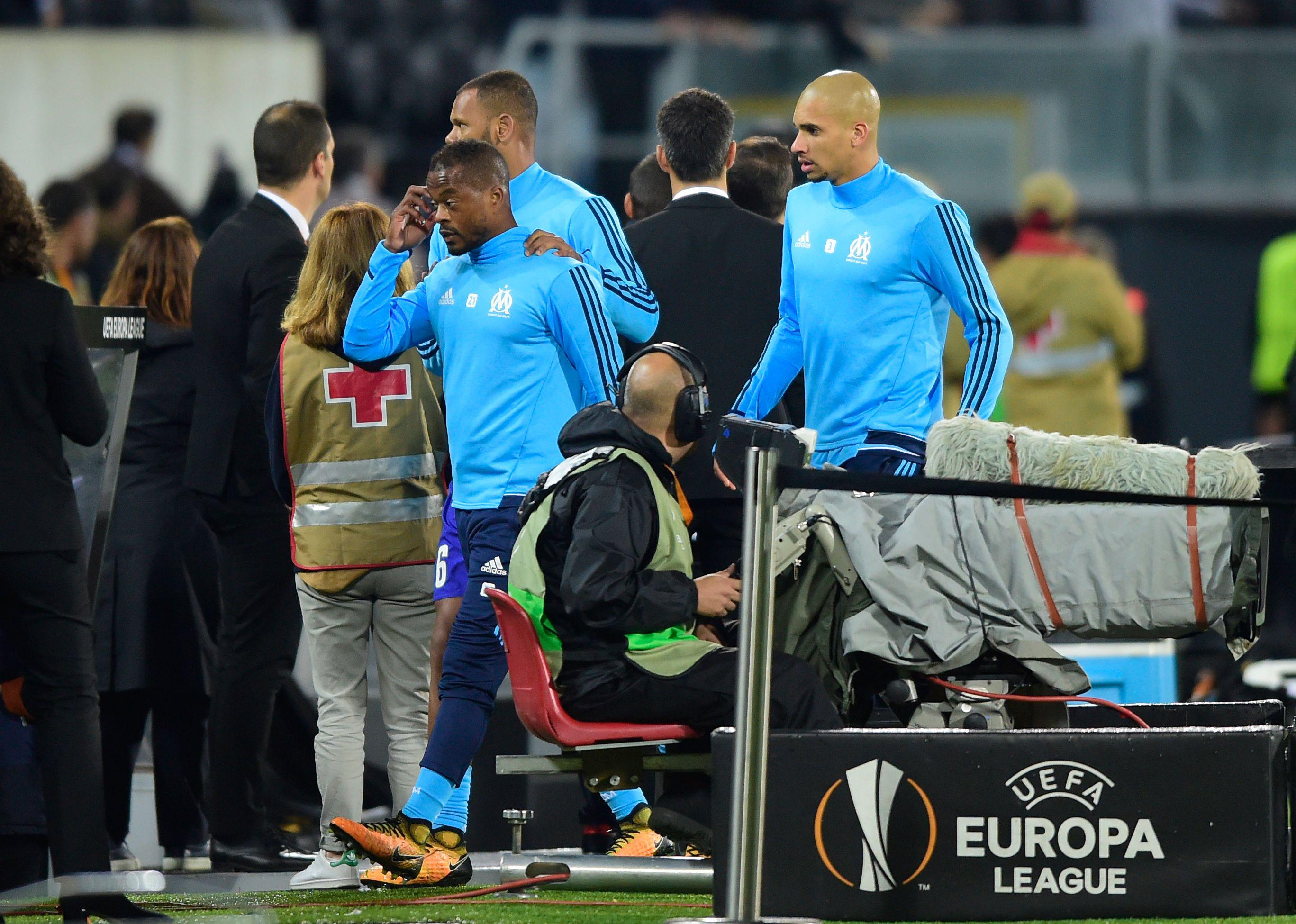 Evra was given his marching orders