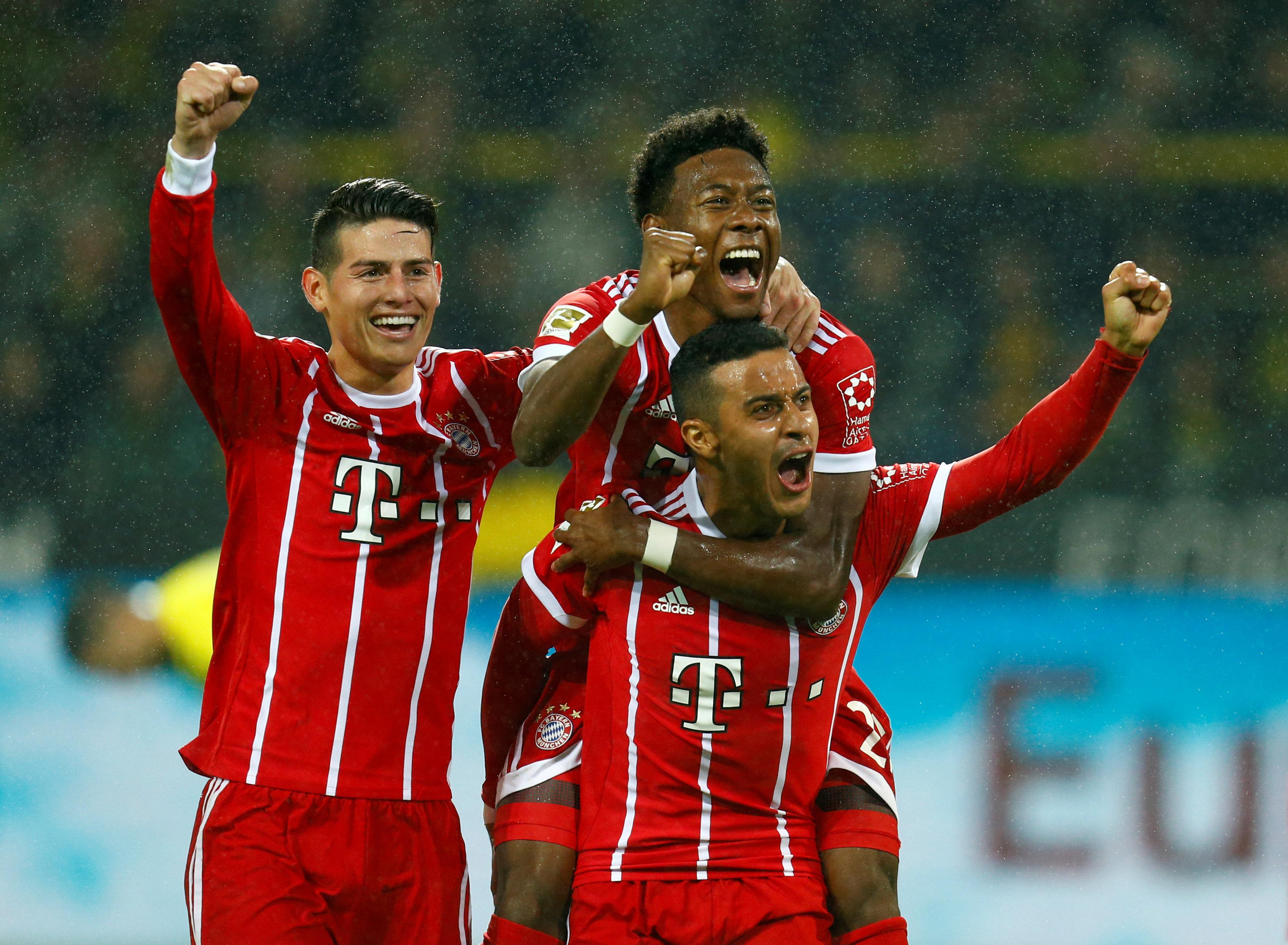 Bayern were victorious over their great rivals