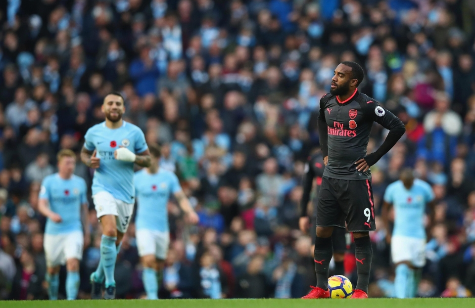 Lacazette was left on the bench against City