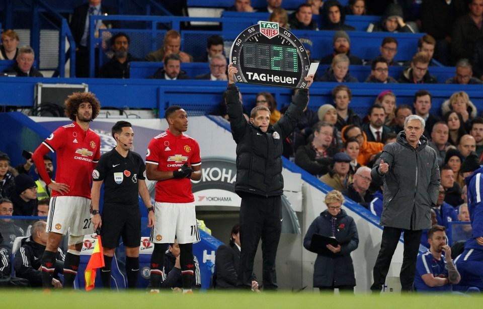 Fellaini off the bench; a terrifying sight