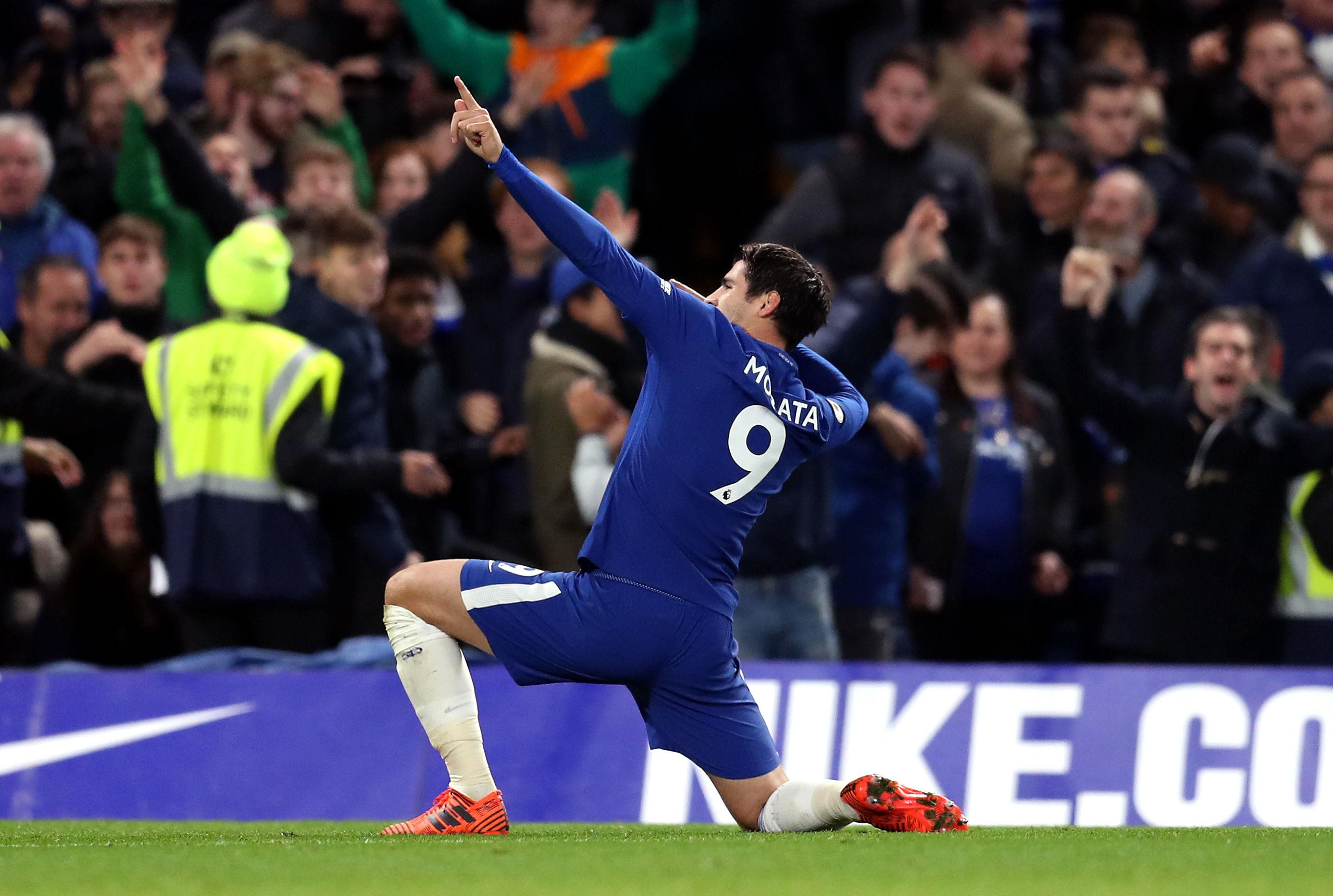 Morata channelling his inner Usain Bolt