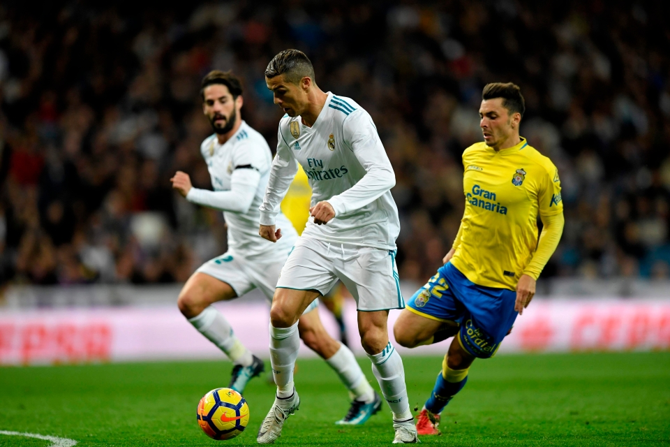 He failed to score against Las Palmas on Sunday, but did set-up Isco for the third goal