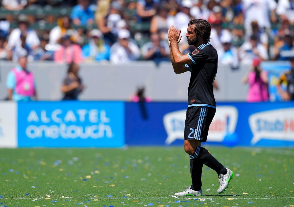 Pirlo played his last game for NYCFC this week
