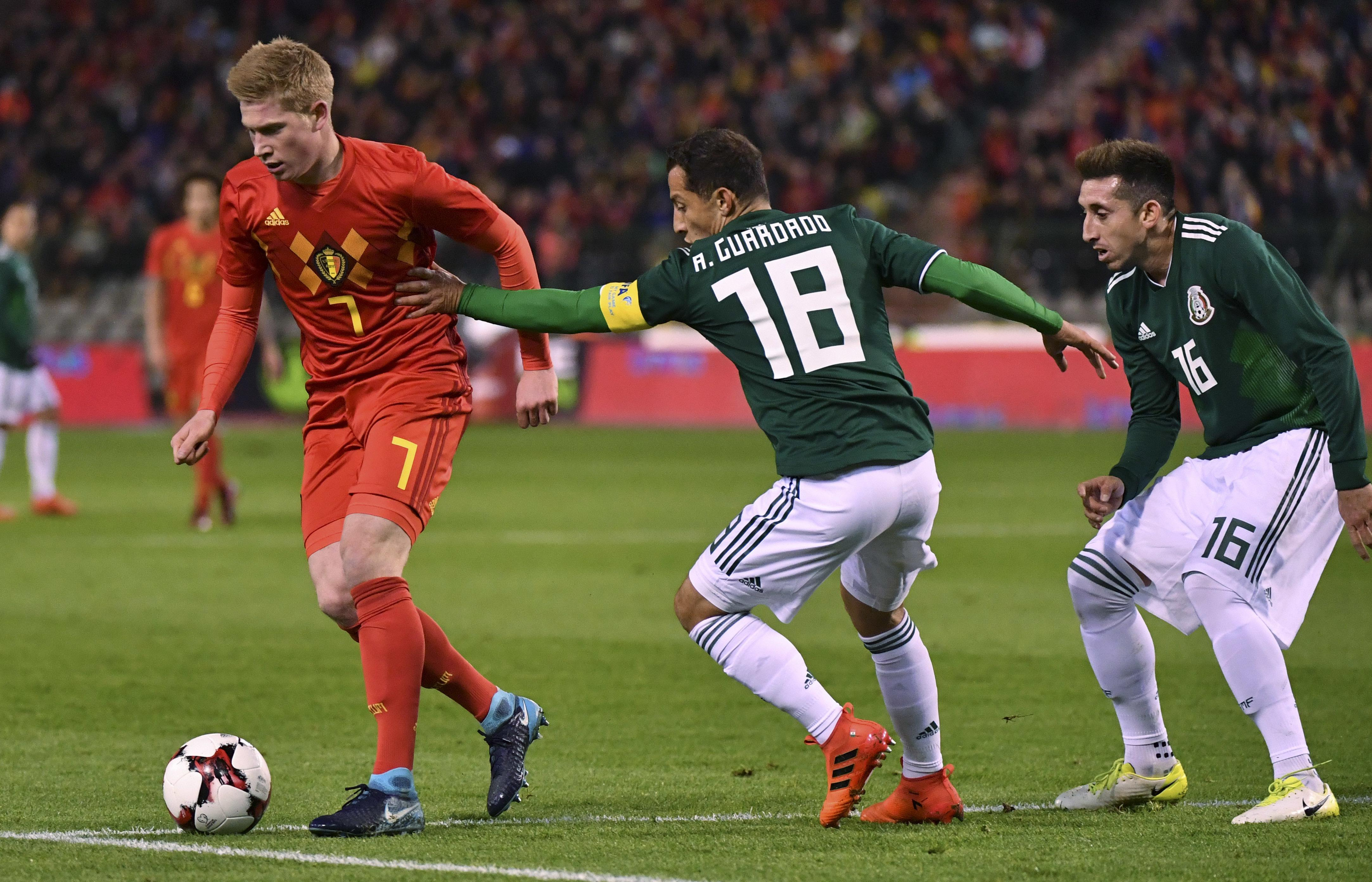De Bruyne and co struggled against Mexico last week