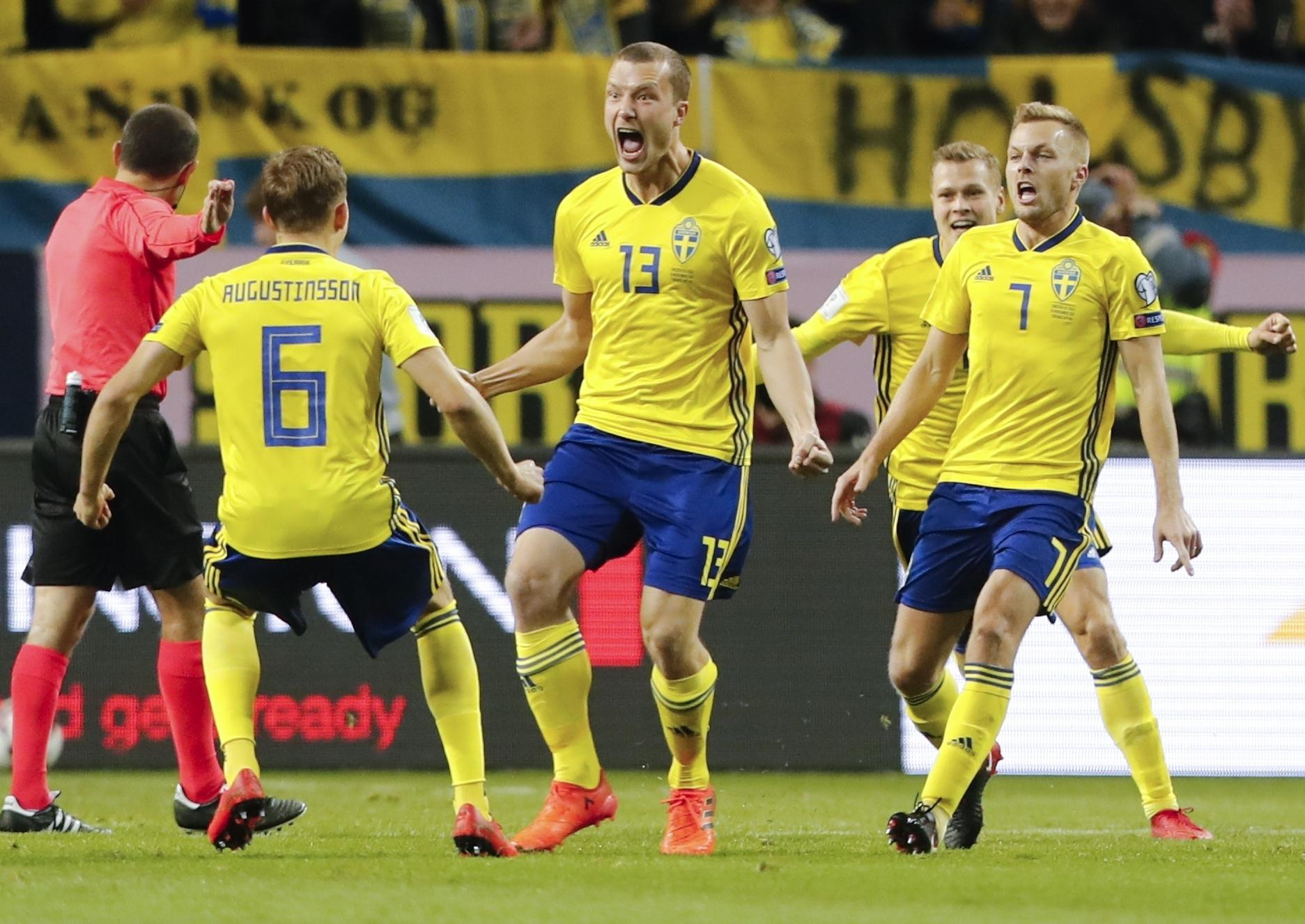 Jakob Johansson ecstatically celebrates his only goal