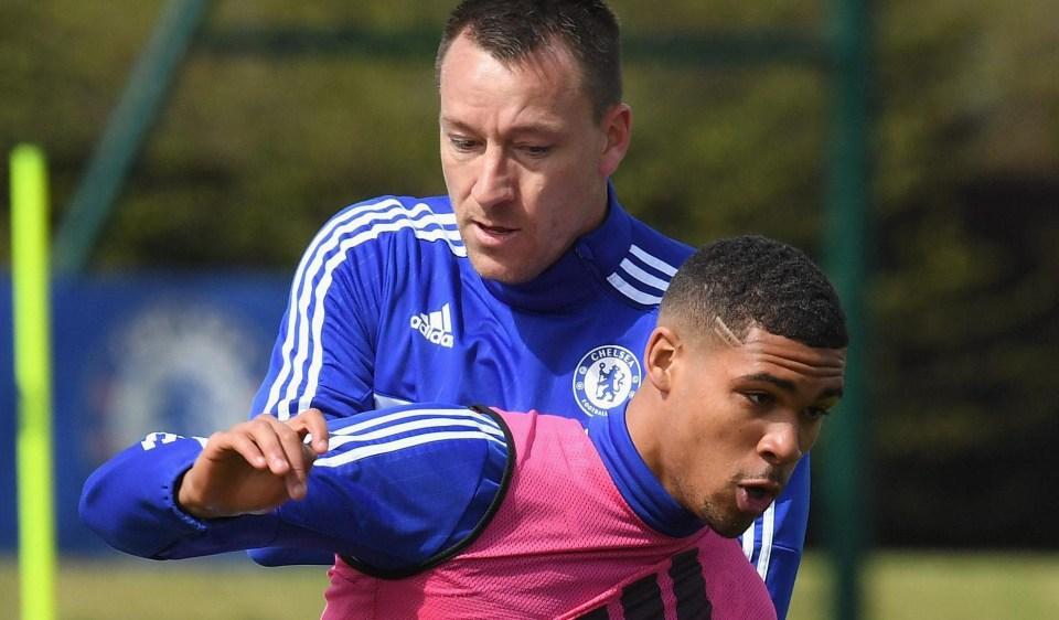 John Terry and Ruben Loftus-Cheek were Chelsea squad-mates until last season